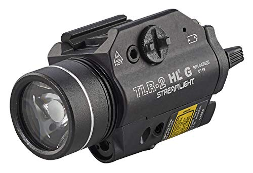 (Streamlight 69265 TLR-2 800 High Lumens G Rail Mounted Flashlight with Green Laser, Black)
