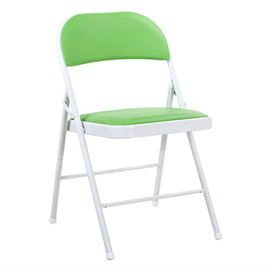 A Stools Folding Chair Portable Metal Frame Folding Office Computer Back Rest Chairs Home Leisure Computer Chair Dormitory Bedroom Learning Stools Latest Model (color   B)