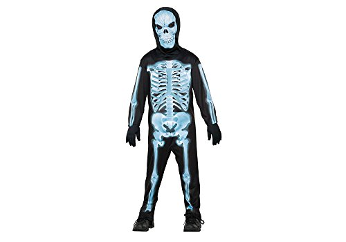 SEASONS DIRECT Halloween Costume Boy X-ray Skeleton with Mask and Jumpsuit (8-10 US) (Skeleton Costume Boy)