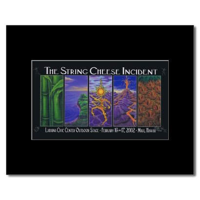 STRING CHEESE INCIDENT - Lahaina Civic Centre Maui HI 2002 Matted Mini Poster -