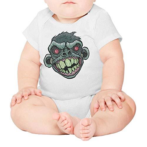 PoPBelle Red Eye Monkey Newborn,Baby Onesies,Baby Onesie} White Bodysuit Cute One-Piece Cotton Short Sleeve