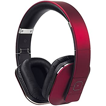 72846f7fff8 Bluetooth Headphones - August EP650 - Wireless Over Ear Headphones with  Multipoint / NFC / 3.5mm Audio In / Headset Microphone - Red
