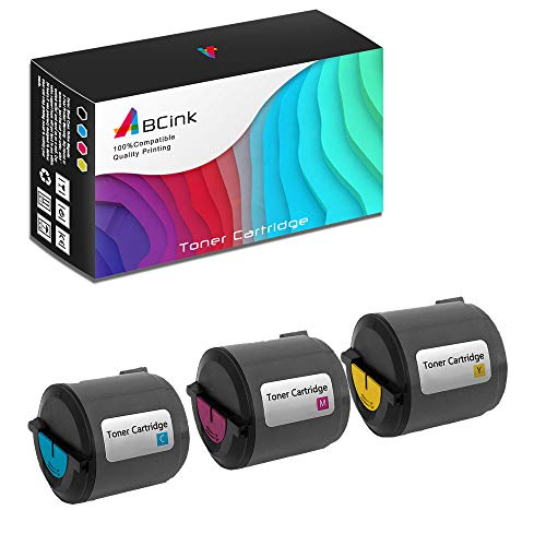 (ABCink Compatible Toner Cartridge Replacements for Xerox 106R01271 106R01272 106R01273,for use in Xerox Phaser 6110 6110MFP,3 Pack(Cyan,Yellow,Magenta))