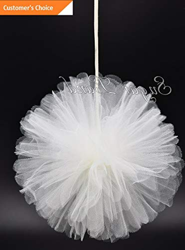 Hebel 20 PCS Tulle Pom Flowers Balls Wedding Party Decorations Outdoor Decor | Model DCRTVBLL - 9 |