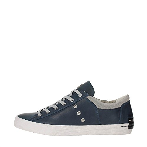 Crime Underground Low sneaker in pelle blu-44