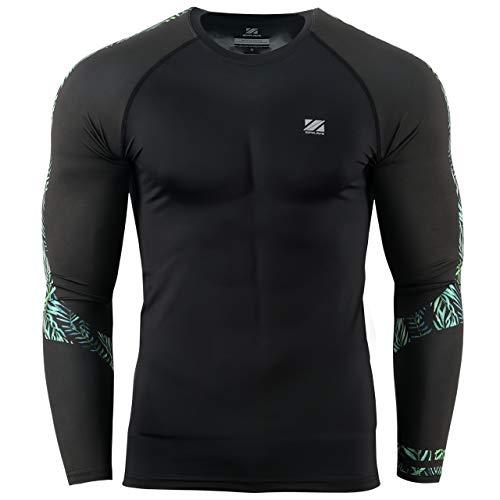 (zipravs Men's Jiu Jitsu Rash Guard Compression Workout Base Layer Protection Shirt)