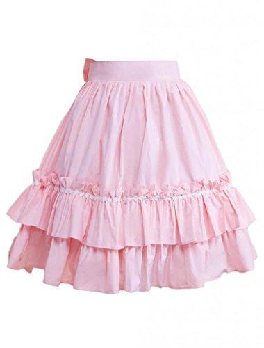 Hugme Cotton Pink Ruffles & Bow Lolita Skirt