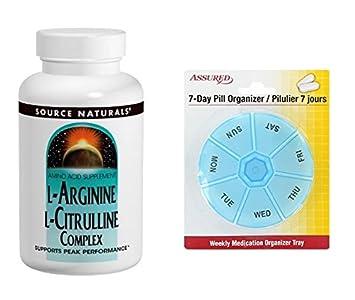Source Naturals L-arginina L-citrulina complejo, 1000 MG, soporta un rendimiento