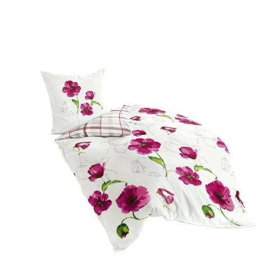 Bierbaum 6404_01 Mako-Satin-Bettwäsche Dessin, 135 x 200 cm und 80 x 80 cm, rosa 01