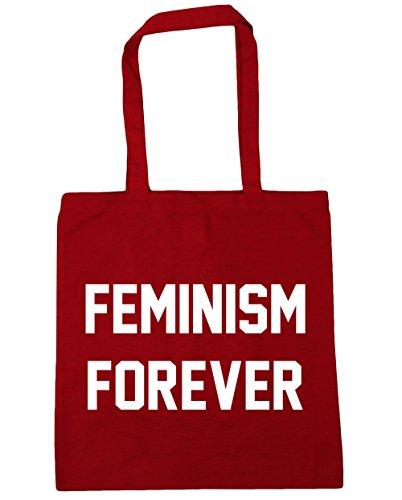 42cm litres Red Gym Classic Tote Beach Shopping Feminism HippoWarehouse forever 10 x38cm Bag vwZ0xAqg