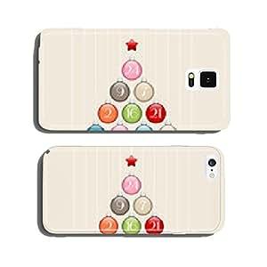 Advent Calendar Christmas Tree Balls Retro cell phone cover case iPhone6