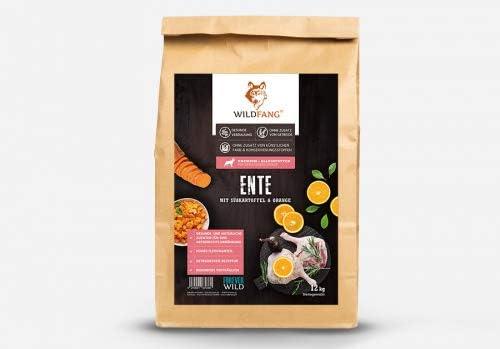 Wildfang Pienso para Perros 6 kg I Alimento seco para Perros sin Cereales de Pato con Batata y Naranja I Croquetas para Perros Adultos I Alimento seco ...
