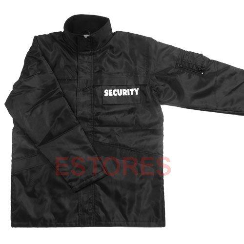 parka 'SECURITY' noir, doublure, Couleur:Schwarz;Taille:XL