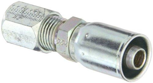 Flareless Tube - EATON Weatherhead Coll-O-Crimp 06E-756 Flareless Tube Rigid Fitting, AISI/SAE 12L14 Carbon Steel, 3/8