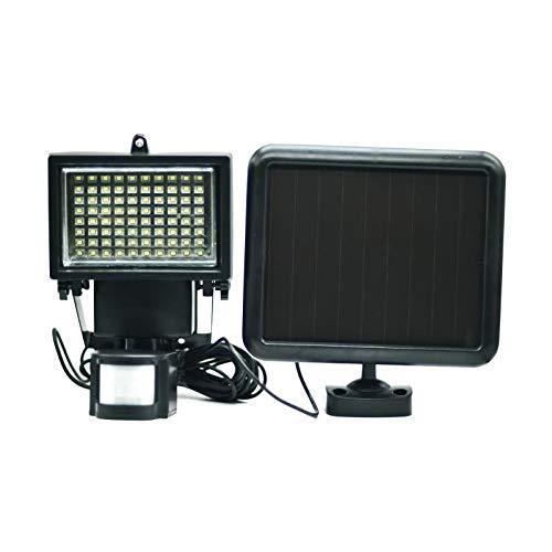 Galix 8017 Solar Spotlight muy ECLAIRANT con sensor de presencia de plástico negro: Amazon.es: Iluminación