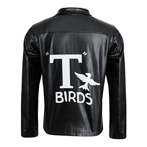 Adult Men 1950s T-Birds Costume Jacket Black Motorcycle