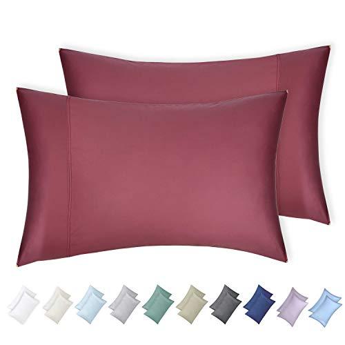 California Design Den 2 Piece Standard Size 600 Thread Count 100% Cotton Pillow Cases, Deco Rose