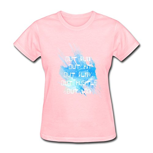 JIALE Women's Quote Out Run T Shirt XX-Large Pink