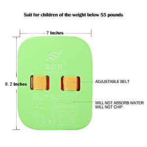 """Back Float Safety Swim Bubble With Adjustable Layers Swim Belts Comfortable Waterproof Floaties Device For Kids Toddler Swimming Floats - 4 Color Split Float 8.2"""""""
