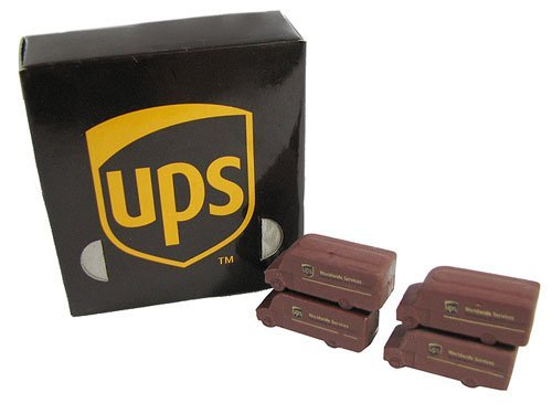 UPS Brown Truck Pencil Erasers set of 2 Erasers
