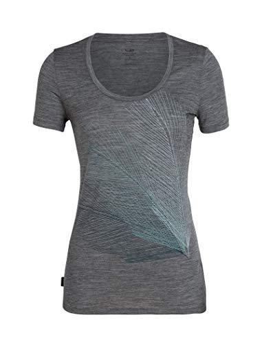 Icebreaker Merino Women's Tech Lite Short Sleeve Scoop Neck Shirt, Gritstone Heather, Medium