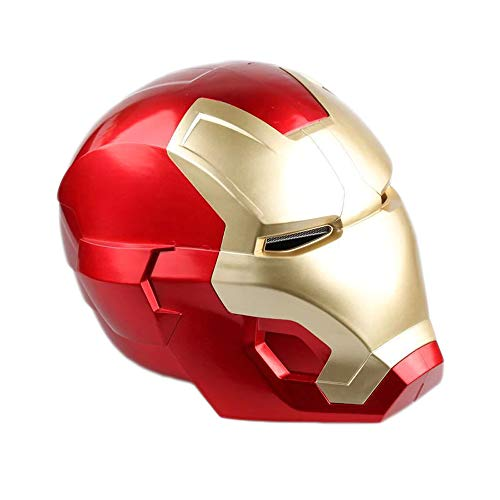 Iron Man Helmet Wearable LED Touch Sensing Open Close Face Plate for Kids]()