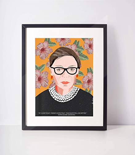 Ruth Bader Ginsburg portrait -RBG -RBG Quotes -Gifts for lawyers- 11