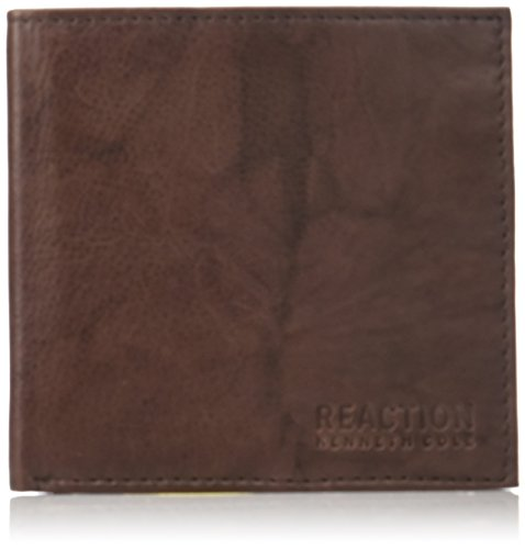 Kenneth Cole Genuine Wallet - Kenneth Cole REACTION Men's RFID Blocking Crunch Hipster Wallet
