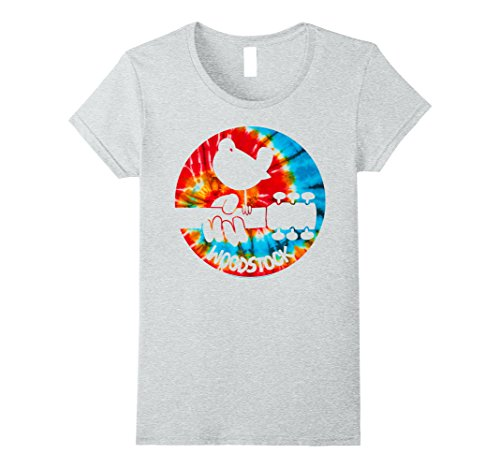 Womens Woodstock - Tie-Dye T-Shirt Medium Heather - Woodstock Women