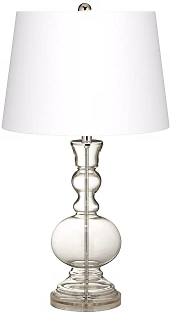 Fillable Clear Glass Apothecary Table Lamp