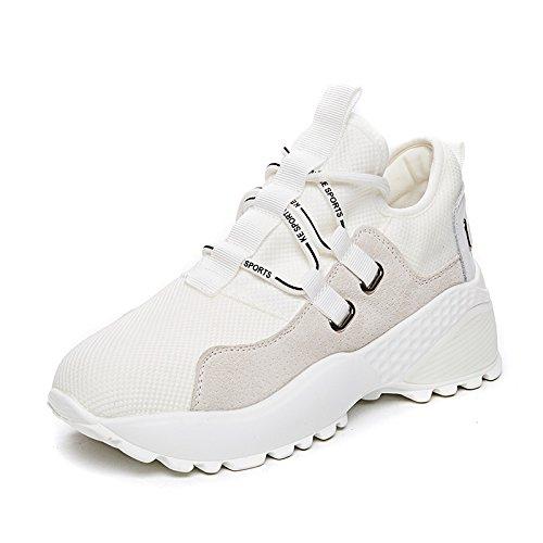 NGRDX&G Zapatillas Femeninas Viento Zapatos De Mujer White