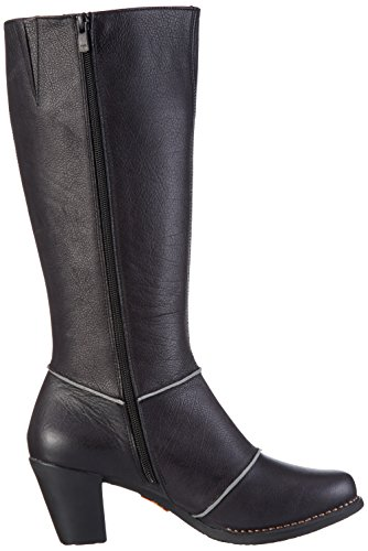 Black Women's Boots Ankle High Genova Art Brown Black Yqwadtx