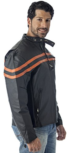 Reed MEN'S VENTED MOTORCYCLE LEATHER JACKET (IMPORTED) (3...