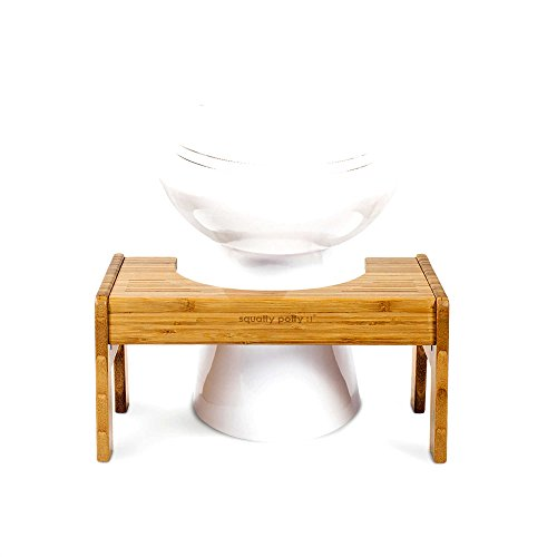 Tao Bamboo Adjustable Toilet Stool for Effortless Bowel by Squatty Potty