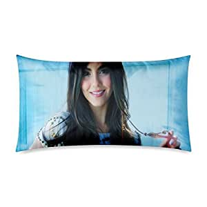 At-Baby Victoria Justice Bedding Home Decoration Custom Zippered Pillow Cases 20x36 (Twin sides)