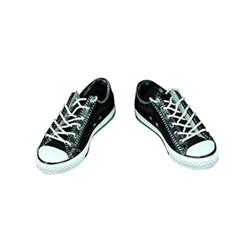 - Flameer 1:6 Scale Casual Men Shoes Costume Outfits for 12 inch Hot Toys / Dragon / Sideshow Action Figures - Black, as described