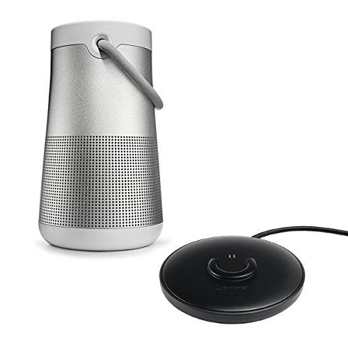 Bose 3.6 SoundLink Revolve+ Bluetooth Speaker, IPX4 Splashproof, Single, Lux Gray Charging Cradle for SoundLink Revolve+ Bluetooth Speakers