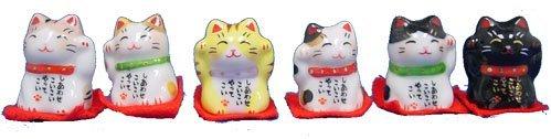 Mini Maneki Neko - Set of 6