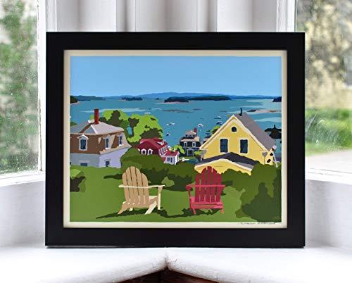 (Stonington Harbor Framed Print (8x10 Giclee Poster, Wall Decor Art) )