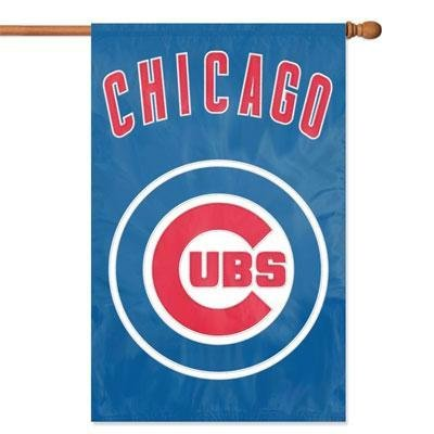 Mlb Chicago Pattern Cubs - Chicago Cubs MLB Applique Banner Flag