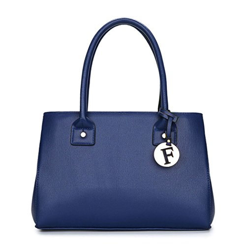 bandolera asa hombro bolsos para de y Bolsos con Bolsos mano de Shoppers Carteras Azul mujer p8FwxqOC
