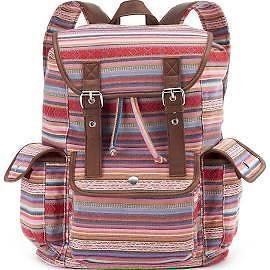 Mudd Table and Tower 660 Pink Stripes Backpack