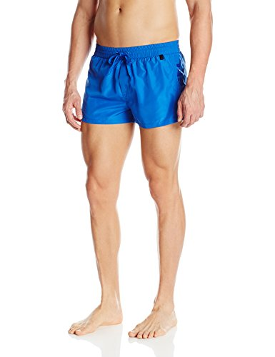 Diesel Men's Sandy 2 Inch Quick Dry Fold and Go Swim Trunk, Blue, Large