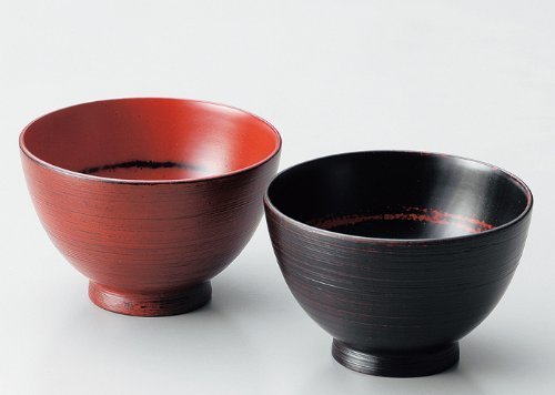 Echizen lacquerware couple bowl (your favorite bowl pairs) brush marks Negoro, Akebono 2 guests (wooden Urushinuri Urushi coating) 805701 by Echizen lacquerware