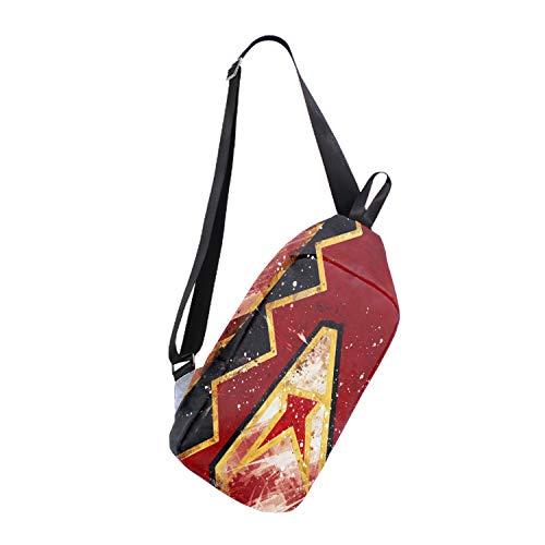 Canvas Chest Bag Arizona Diamondbacks Casual Shoulder Backpack for Men Women