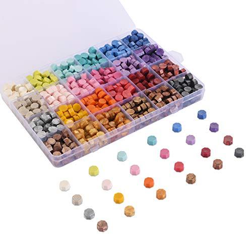 Cera para sellos box 600u. lacrado multicolor y metallic