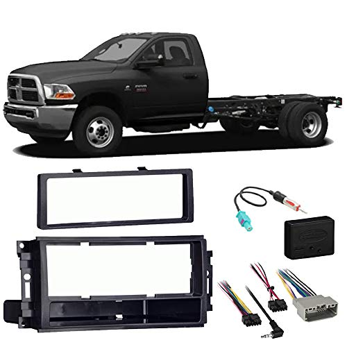 Ram Chassis Cab 3500 4500 5500 2012 Stereo Radio Install Dash Kit Package ()