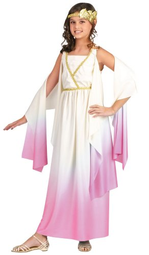 [Athena Pink Goddess - Roman Costume (8-10)] (Athena Greek Goddess Costume Child)