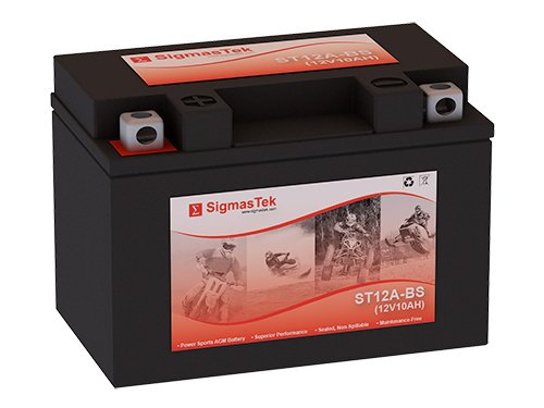 12 Volt 10 Amp Hour Sealed Lead Acid Battery Replacement with NB Terminals by SigmasTek ST12A-BS