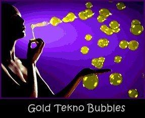 Tekno Bubbles - Gold UV Blacklight Reactive - 1 Gallon - 128 Ounces
